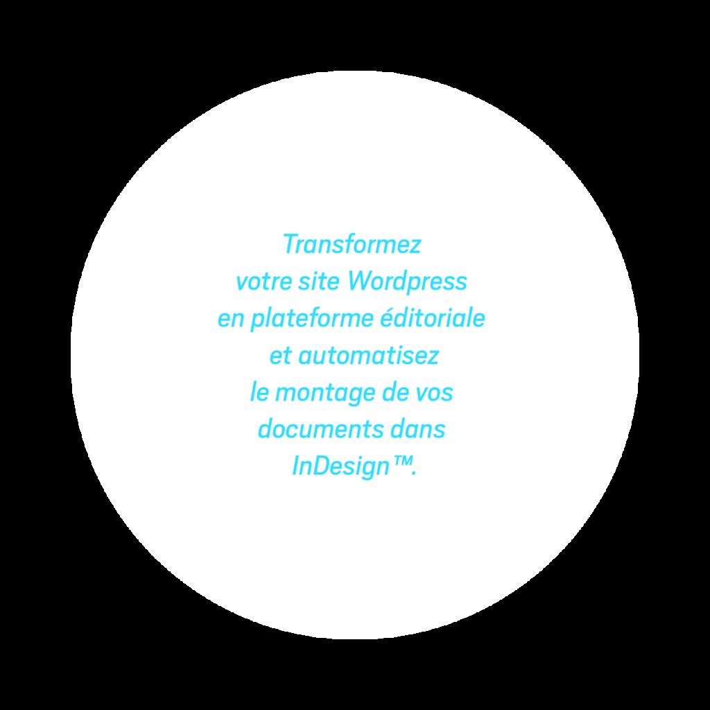 Transformez votre site WordPress en plateforme éditoriale et automatisez le montage de vos publications dans Adobe InDesign